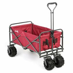 Folding Wagon All-Terrain Collapsible Outdoor Utility Wagon
