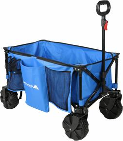 Wagons Trail All-terrain Folding Wagon Oversized Wheels, Blu