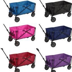 Folding Wagon Cart Collapsible Garden Beach Utility Outdoor