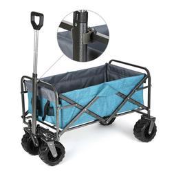Folding Wagon Cart Collapsible Outdoor Utility Wagon Garden