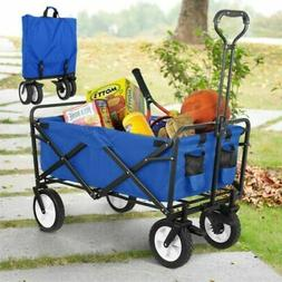Folding Wagon Cart Collapsible Sports Utility Beach Heavy Du