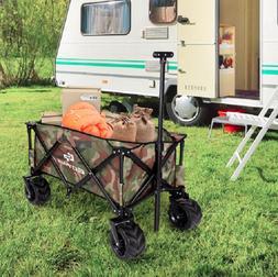 Folding Wagon Cart Gardening Tool Carts Outdoor Utility Trol