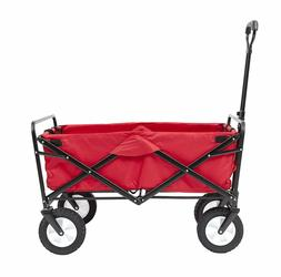 Folding Wagon Cart Heavy Duty Pull Push All Terrain Wide Tir
