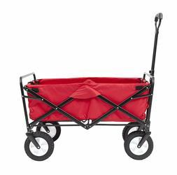 Folding Wagon Cart Heavy Duty Pull Push All Terrain Wide Tir