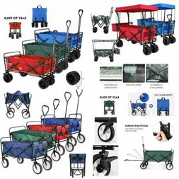 Folding Wagon Cart Multi-function Utility Shop Camp Collapsi