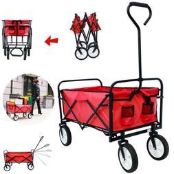 Folding Wagon Collapsible Outdoor Garden Utility Shopping Be