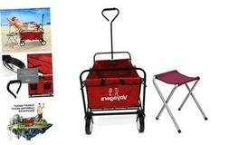 Folding Wagon Collapsible Sports Foldable Cart with Wheels