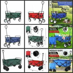 Folding Wagon Collapsible Trolley Utility Cart Telescoping H