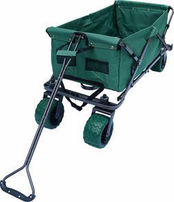 Folding Wagon Collapsible Utility Cart Garden Buggy Outdoor