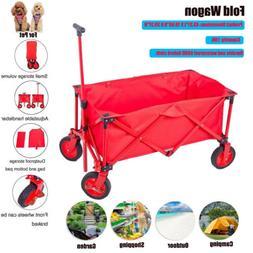 Folding Wagon,Garden Cart Heavy Duty Collapsible All Terrain