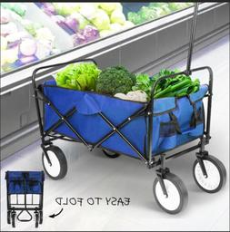 folding wagon heavy duty collapsible garden shopping