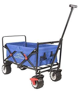 Rainier Creek Folding Wagon, Heavy Duty Collapsible Outdoor