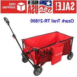 Folding Wagon Utility Cart All-Terrain With Telescoping Hand