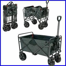 Mac Sports Folding Wagon with Cargo Net, All-Terrain Wheels