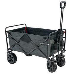 Mac Sports Folding Wagon with Cargo Net 300 Pound Capacity A