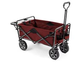 Folding Wagon with Table, Assorted Colors -Red - New