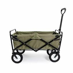 Gray Folding Wagon Sports Utility Beach Cart with Table Mac