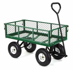 GOR400-COM Steel Garden Cart with Removable Sides, 400-lbs.