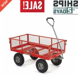 GOR800-COM Steel Utility Cart with Removable Sides 800-lbs C