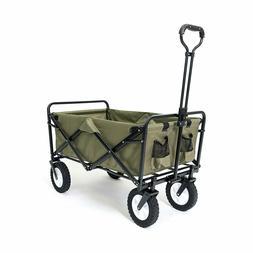 Mac Sports Green Collapsible Cart Folding Outdoor Utility Ga