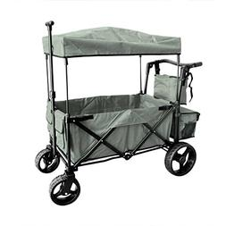 Grey Push and Pull Handle with Wide Off Road All Terrain Tir