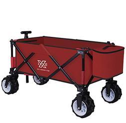 BXL Heavy Duty Collapsible Folding Garden Cart Utility Wagon