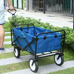 Heavy Duty Folding Wagon Collapsible Garden Beach Utility Ca