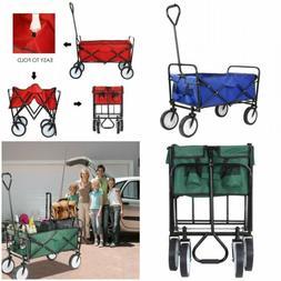 Heavy Duty Folding Wagon Storage Carrying Durable Garden Bea