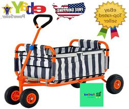 Heavy Duty Steel Folding Transport Wagon Collapsible Utility