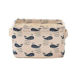 Cinhent Home 1PC Cotton Blended Bag, Office Desktop Boxes, M