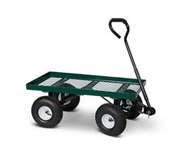 Terra Verde Home Mesh Garden Cart with Pneumatic Tires, Gree