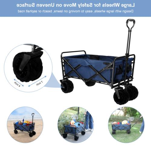 Pull Push Heavy Duty All Terrain Wide Tire Collapsible Foldi