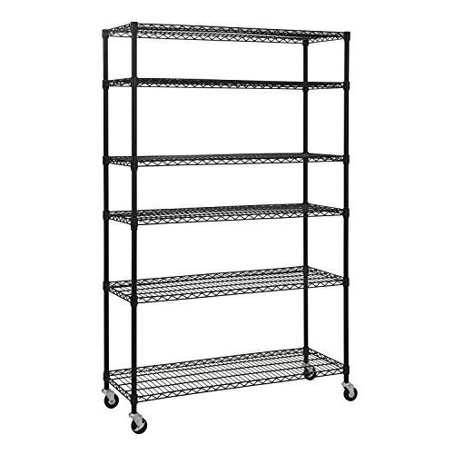 6 level mobile wire shelving