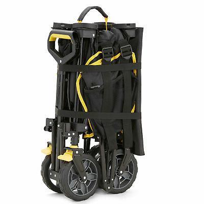 Gorilla 7 Feet Foldable Utility Wagon w/ Oversized Black