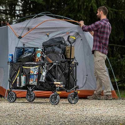 Gorilla Carts 7 Feet Utility Wagon Oversized Bed, Black