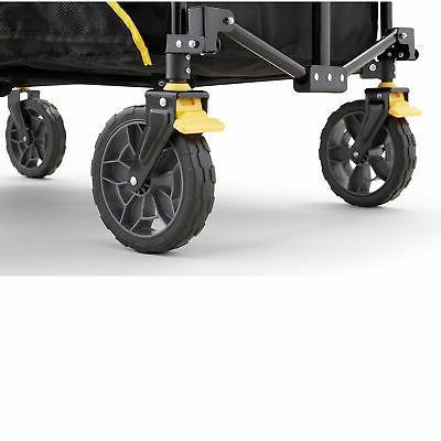 Gorilla Feet Foldable Utility Wagon w/ Oversized Black