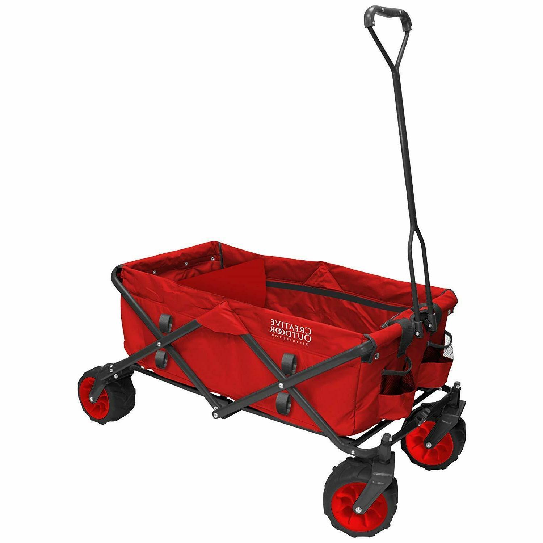 900251 all terrain folding wagon red