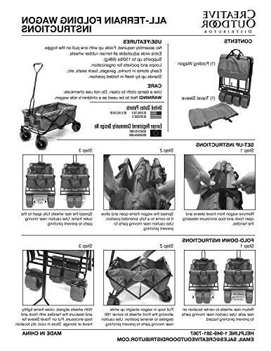 Creative Distributor Folding Wagon, Blue/Grey