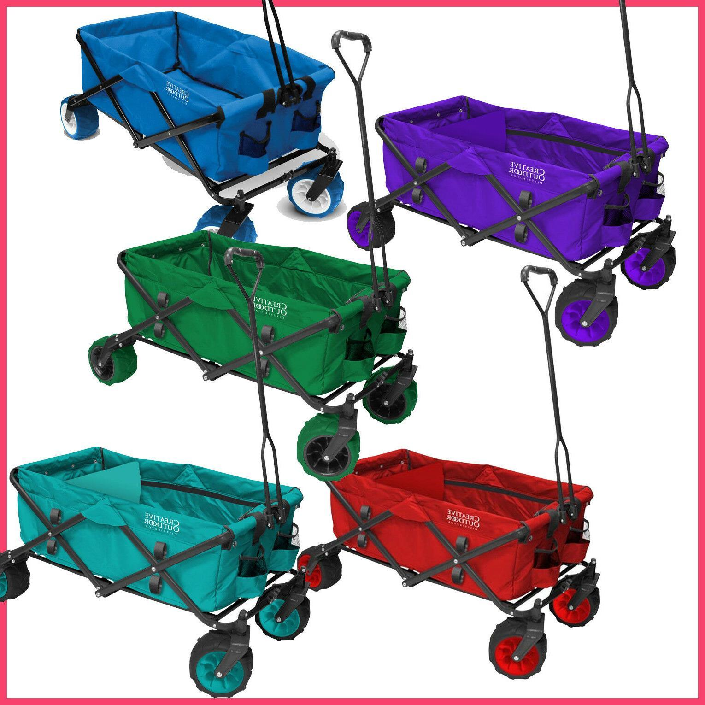 all terrain folding wagon folds flat fits