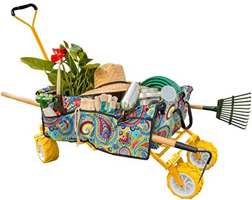 Creative Outdoor Folding Wagon, - Included Multipurpose for Gardening, Camping, Beach Trips, and Travelling