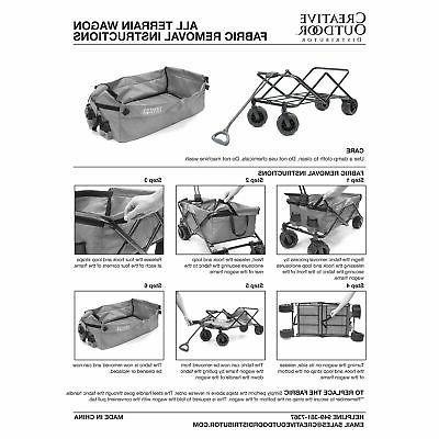 All-Terrain Folding Wagon Paw