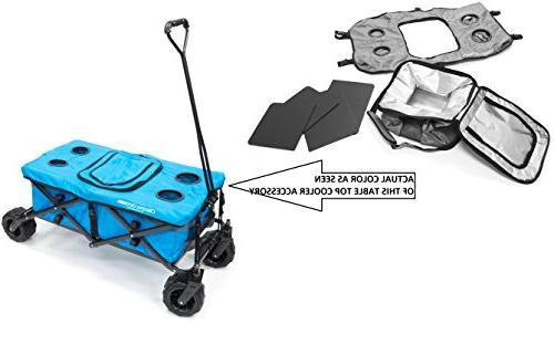 Creative Outdoor Distributor Folding Wagon Tabletop with Cooler Bag,