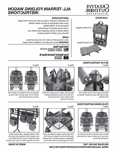 Creative Outdoor Distributor All-Terrain Wagon, Gray