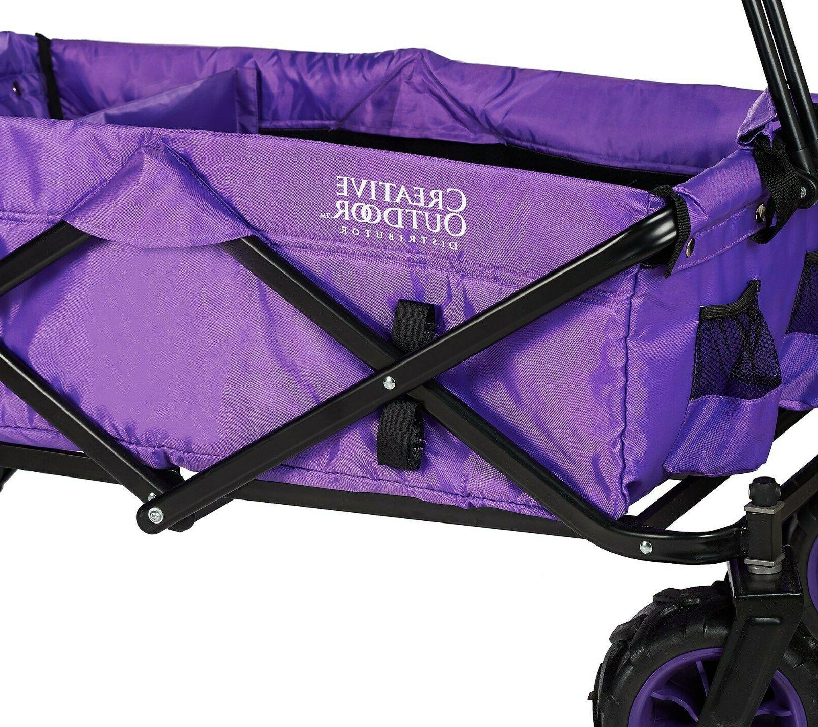 Creative All-Terrain Folding Wagon with Divider New