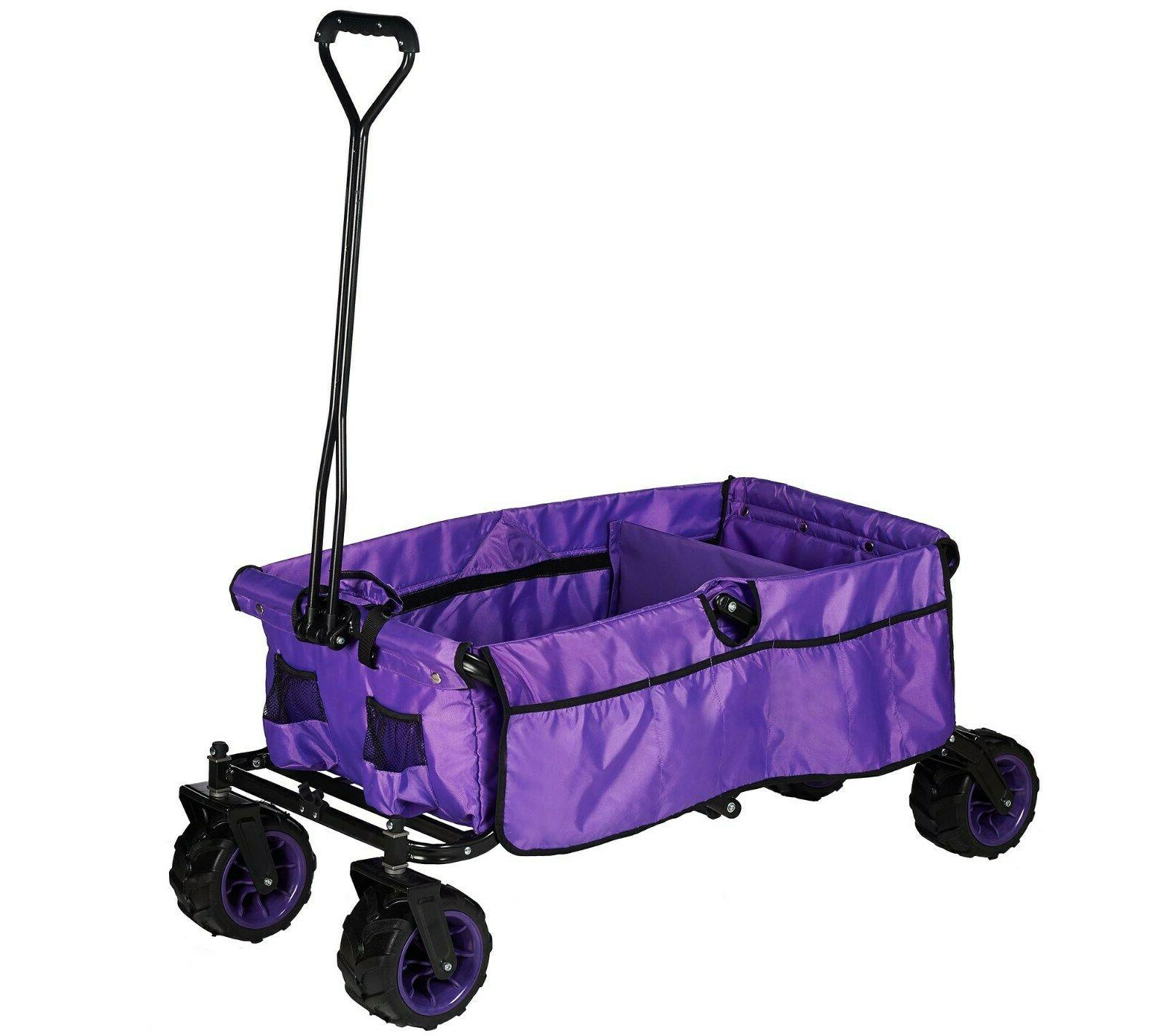 all terrain folding wagon with divider new