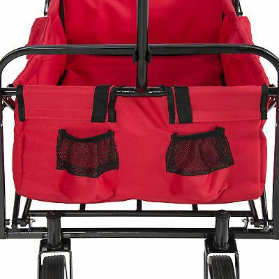 BCP Folding Cart w/ 2 Cup Holders,