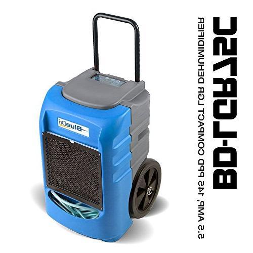 BlueDri 145PPD Compact Commercial Dehumidifier Blue