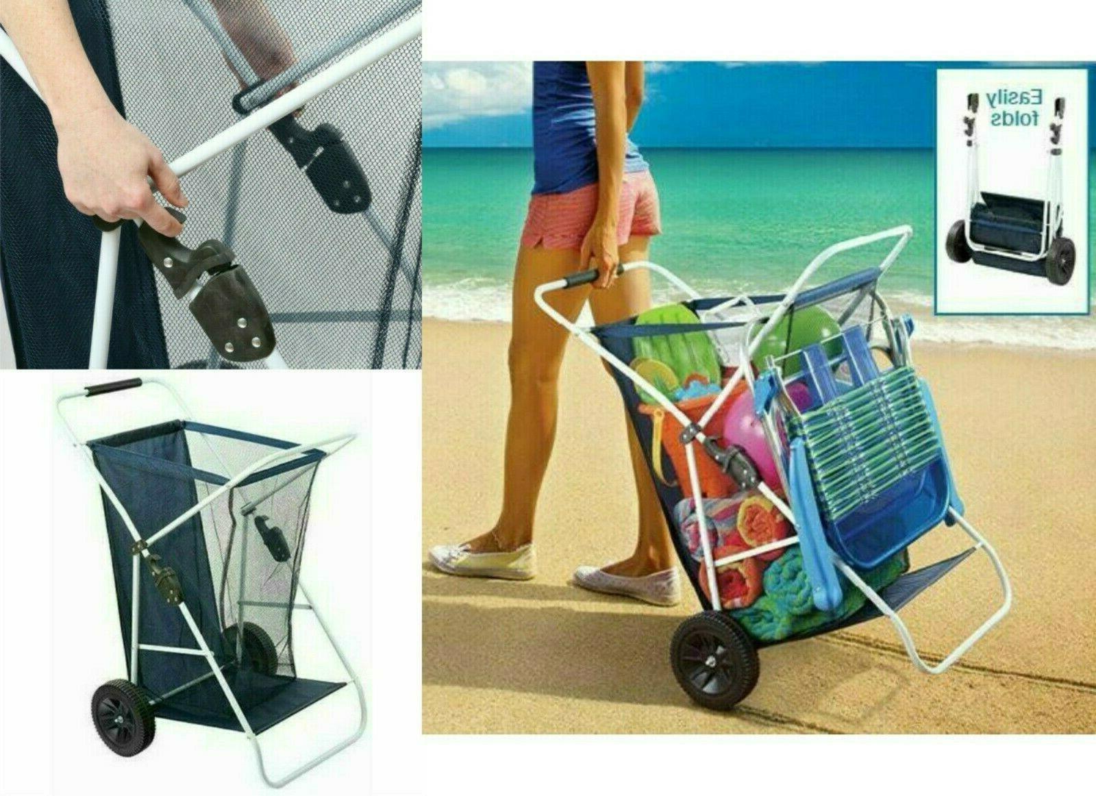 Beach Folding Wide Wheels Beachgear
