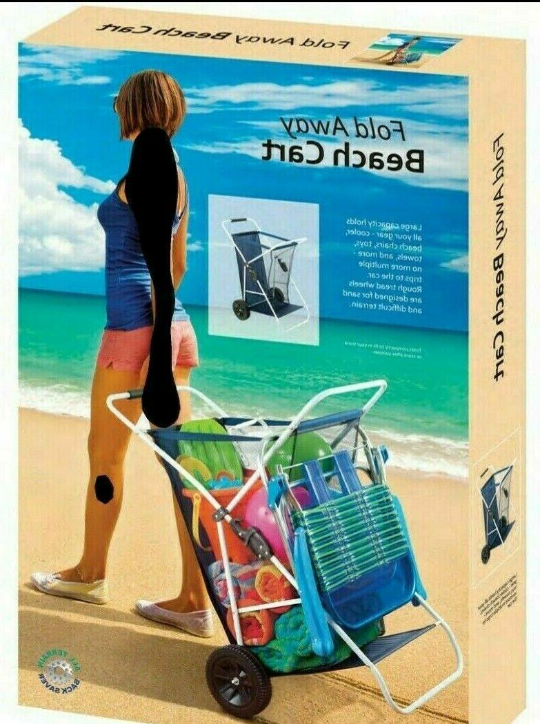 Beach Wagon Cart Folding Utility Wagon Wide