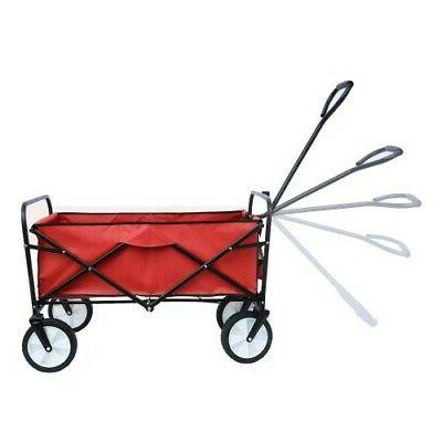 Collapsible Folding Wagon Wagon Yard Portable Utility